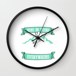 Lovely Gift Ice Skating Tshirt Design Skating everywhere Wall Clock