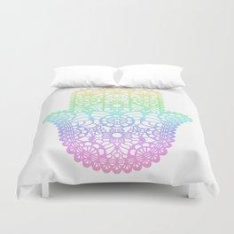 Rainbow Hamsa Duvet Cover
