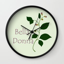 Bella Donna Wall Clock