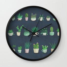 Tiny garden blue Wall Clock