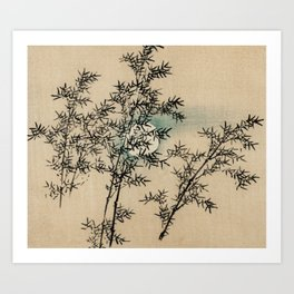 Bamboo Branches Traditional Japanese Flora Art Print