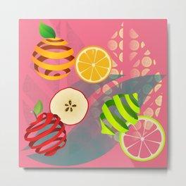 Apple, Orange and Lemon Metal Print