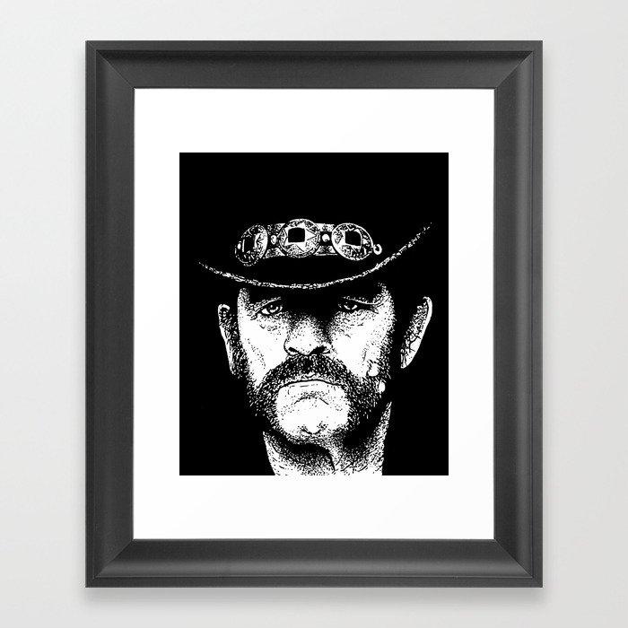 A portrait of Lemmy Kilmister of Motorhead Gerahmter Kunstdruck