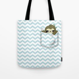 sloth in my pocket Tote Bag