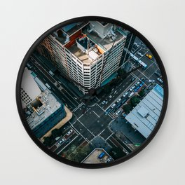 New York City Skyscaper View Wall Clock