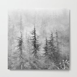 """""""Wilderness"""". Into the foggy mountains Metal Print"""