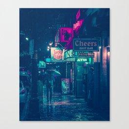 6th Street during Hurricane Harvey Canvas Print