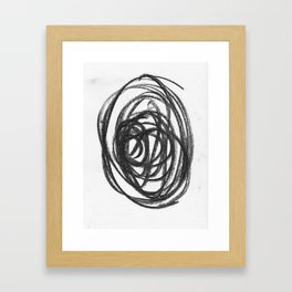 Scribble Circle Framed Art Print