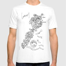 volubert White SMALL Mens Fitted Tee