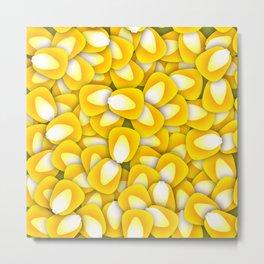 Corn Pattern Metal Print