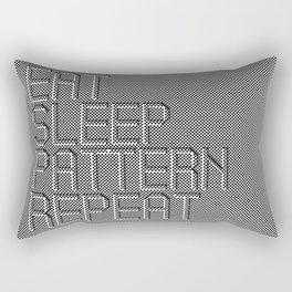 Eat Sleep Pattern Repeat Rectangular Pillow