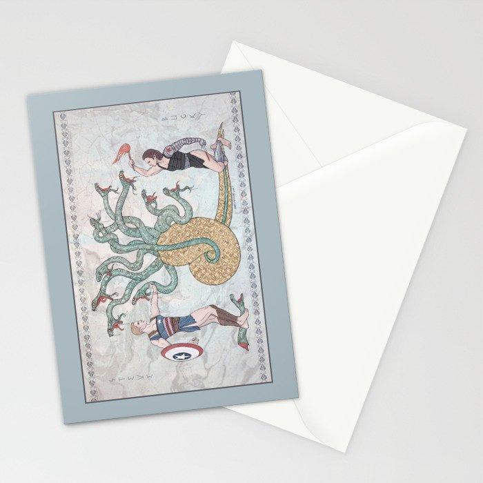 Steve, Bucky and the Hydra Stationery Cards