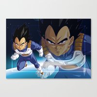 vegeta Canvas Prints featuring Vegeta by Neo Crystal Tokyo