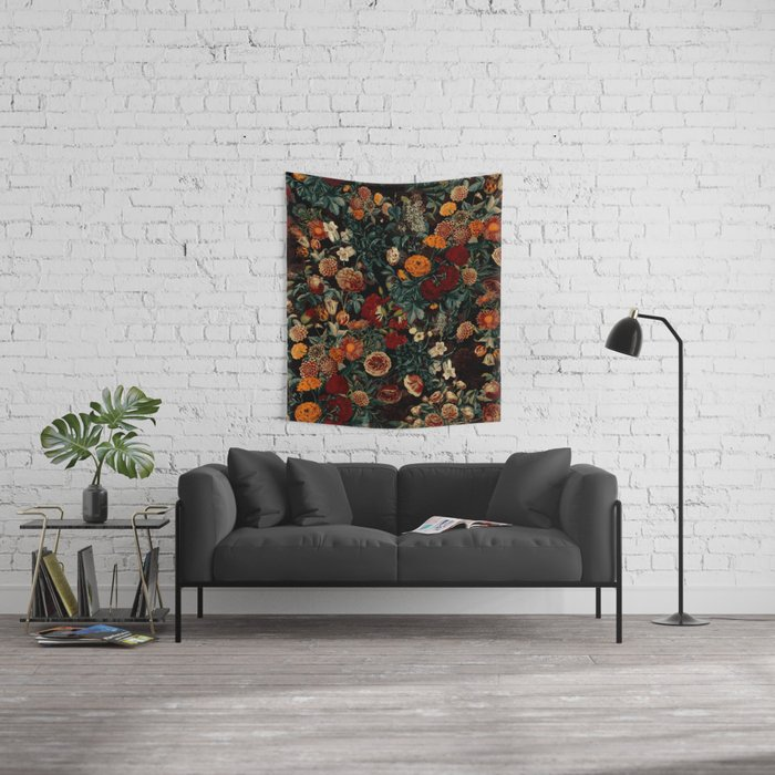 EXOTIC GARDEN - NIGHT XXI Wall Tapestry