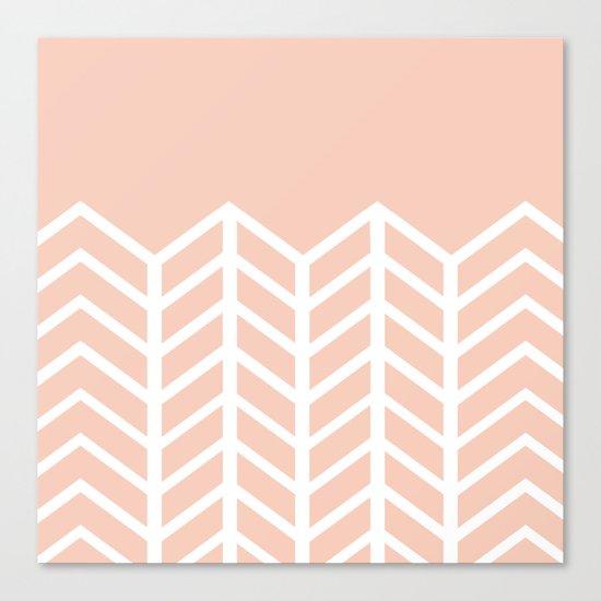 LACE CHEVRON (PEACH) Canvas Print