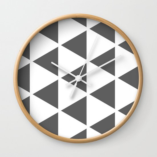 Sleyer Dark Grey on White Pattern Wall Clock