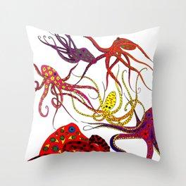 Consortium of Octopi Throw Pillow