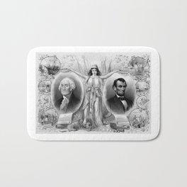 Washington and Lincoln Bath Mat