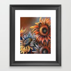 3 Sunflowers Framed Art Print