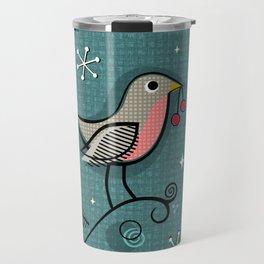 Robins in Winter ©studioxtine Travel Mug