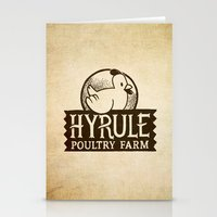 hyrule Stationery Cards featuring Hyrule Poultry Farms by Drake Sauer