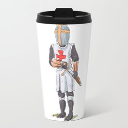 Knight Templar in armour with sword. Travel Mug