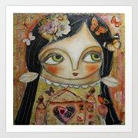 home sweet home Art Prints featuring Home by Dulcamara