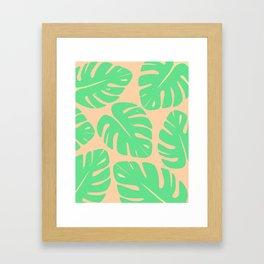 Monstera Leaf Print 3 Framed Art Print