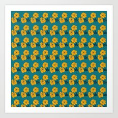 Marigold Repeat Art Print
