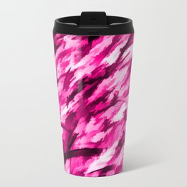 Designer Camo in Hot Pink Travel Mug