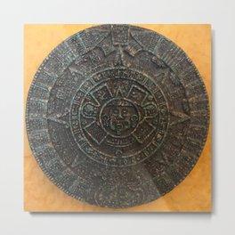 Mayan Calendar / Aztec Sun Disk Metal Print
