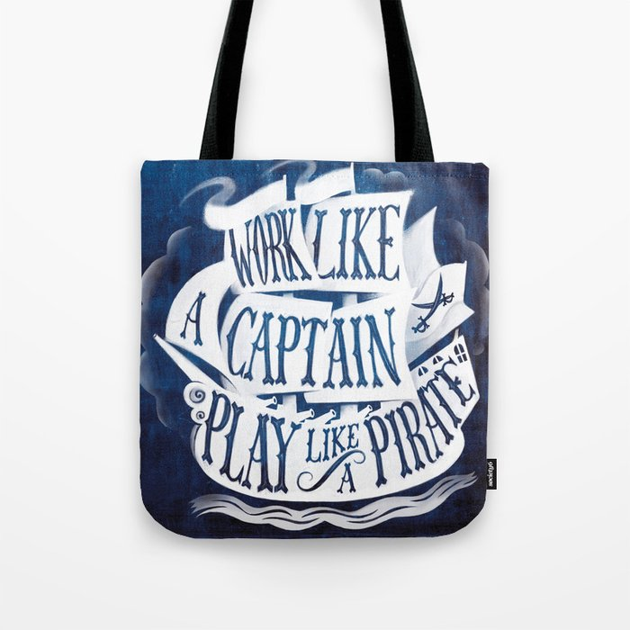 like a pirate Tote Bag