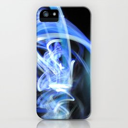 (Mostly) Blue Light Painting iPhone Case