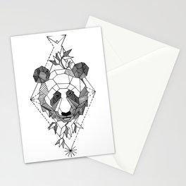 Geometrical Panda with Morse Code Stationery Cards