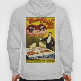 Vintage Circus Poster - Trained Pigs Hoody
