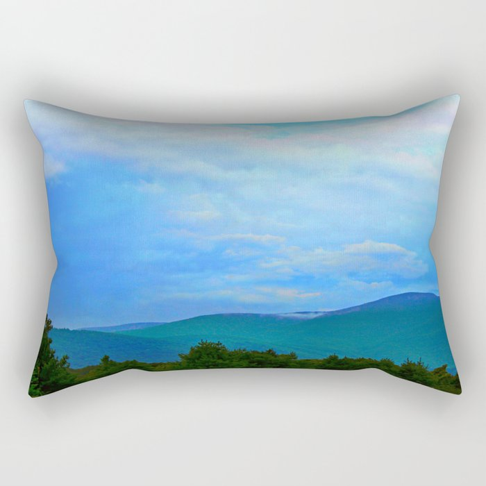 Blue Ridge Mountains Rectangular Pillow