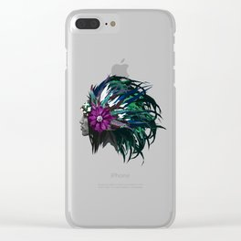 Green and Purple - White Clear iPhone Case