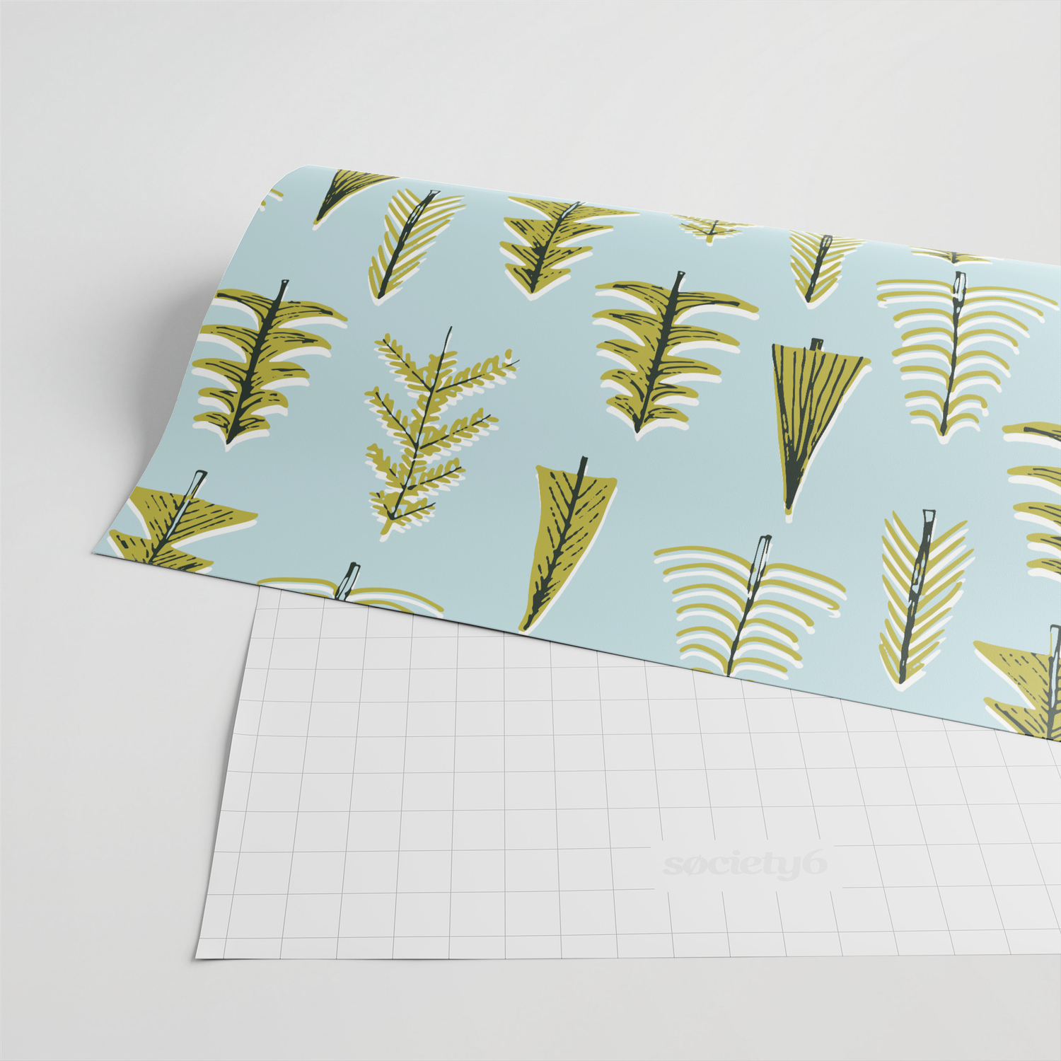 vintage evergreen tree pattern Wrapping Paper by staceywalkeroldham