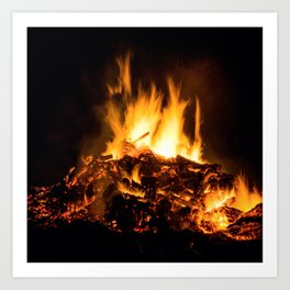 Fire flames Art Print