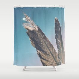 Brown Feathers Shower Curtain