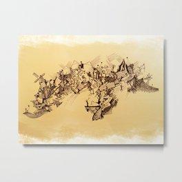 Landscape - 4 - Windmill Metal Print