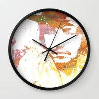 johnny depp Wall Clocks featuring Johnny Depp by Nechifor Ionut