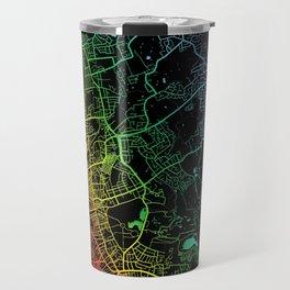 Blackpool, England, City, Map, Rainbow, Map, Art, Print Travel Mug
