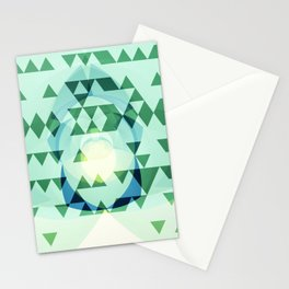 Green Tribomb Stationery Cards