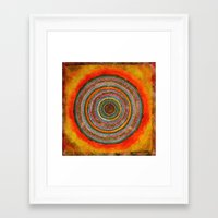 tree rings Framed Art Prints featuring tree rings by Asja Boros