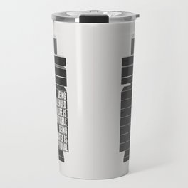 Lab No. 4 -Being Challenged In Life Is Inevitable Gym Motivational Quotes Poster Travel Mug