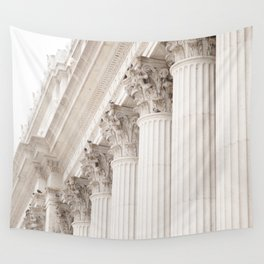 City Columns Wall Tapestry