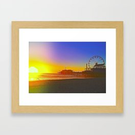 Santa Monica Ca. Framed Art Print