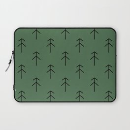 Spruces on green Laptop Sleeve