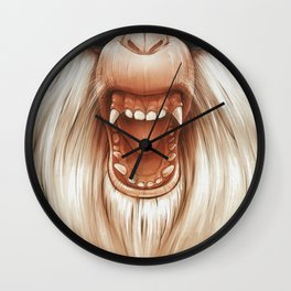 The Great White Angry Monkey Wall Clock